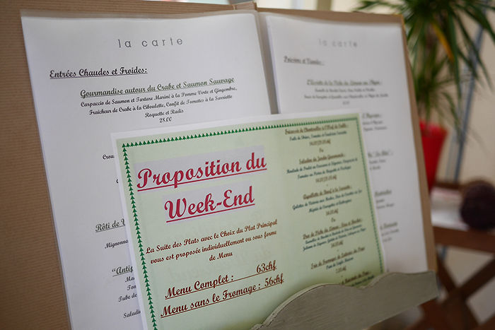 Menu Week-end Auberge Aux 2 Sapins Montricher