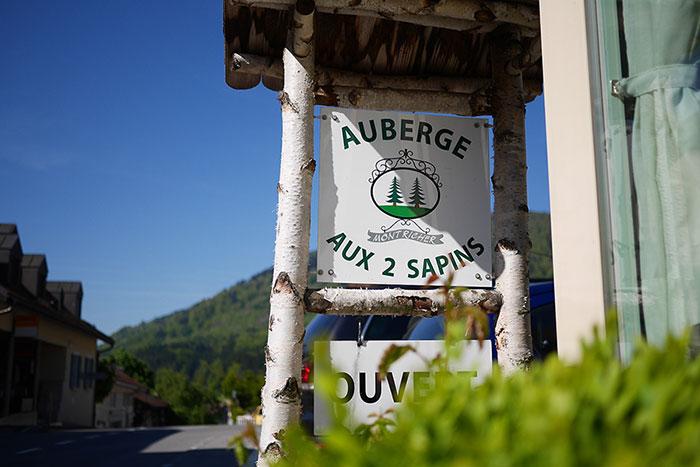 Carte et menus Auberge aux 2 Sapins Montricher